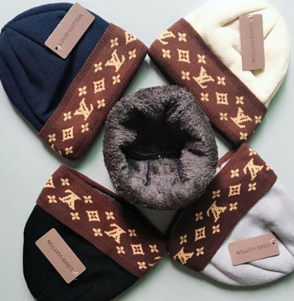 AXLTommy GBCbeanies supremi cappello a maglia inverno caldo di spessore Beanie Fedora Gorro Bonnet Skull cappelli per gli uomini le donne Crochet Sci Cap