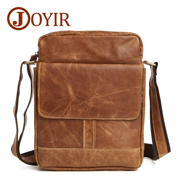 New Fashion 100% genuine leather crossbody small men Brown bags first layer cow leather men's messenger shoulder designer handbags tote Best