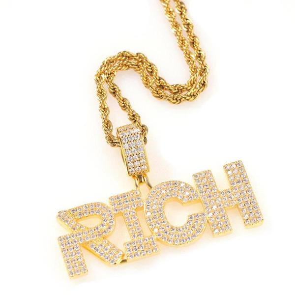 Gold 2 24inch de la chaîne cubaine (60 cm)