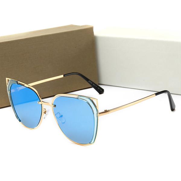 Kadınlar Için 22030 Güneş Gözlüğü Tasarım Popüler Moda Yaz Tarzı Arılar Ile En Kaliteli UV400 Bağlantı Lens Durumda Ile Gel