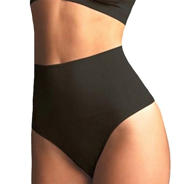 Women High Waist Trainer Tummy Slimming Control Waist Cincher Body Shaper Thong G-string Butt Lifter Seamless Panties