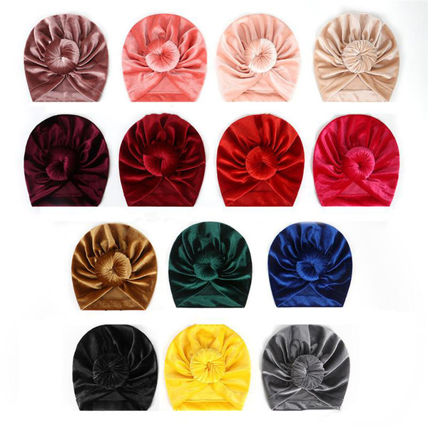 INS qualità 14color pleuche cappelli del bambino bambini cappelli firmati Neonato cappelli ragazze cappello accessori per neonati scherza la protezione ragazze Cap bambino Berretti