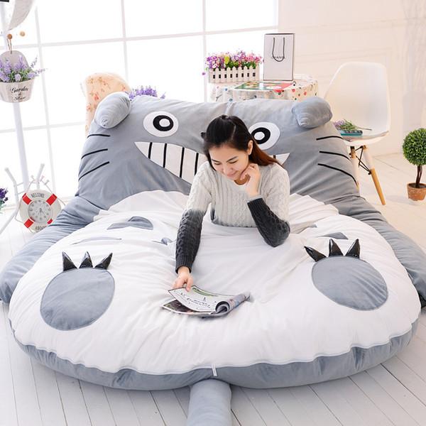 Doble Hombre Saco de dormir Enorme Cómodo Totoro Cama de Dibujos Animados Colchonetas de Colchón Sofá Pad Personalidad Tatami Feliz Navidad Regalo 500 lc bb