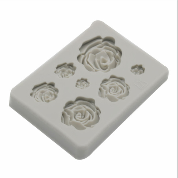 Rose Flowers Silicone mold Cake Chocolate Mold Wedding Decorate Tools Sugarcraft
