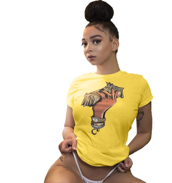 2019 women's simple round neck T-shirt printing short-sleeved T-shirt variety of color designer brand T-shirt