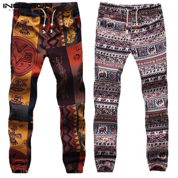 2019 Harajuku Erkekler Harem Pantolon Hiphop Etnik Aladdin Alt Pantolon Ince Joggers Crossfit Kadın Femininas Hombre Pantalon Dans Y190509