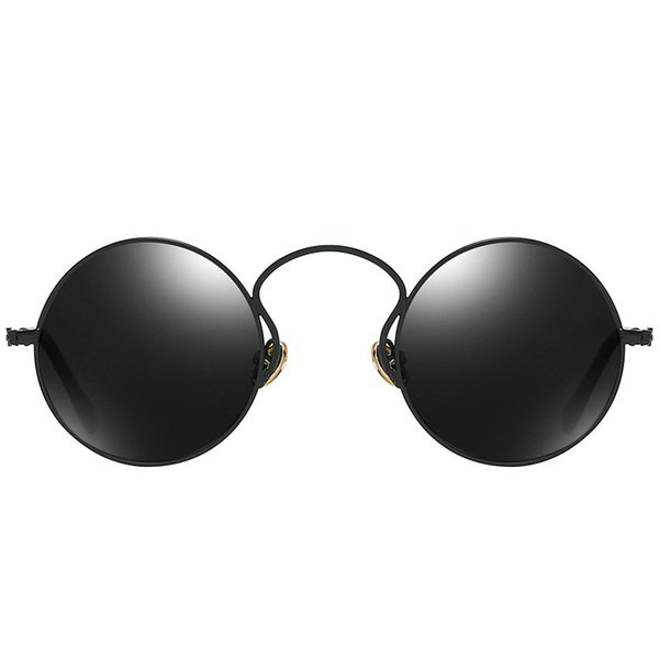 2019 Vintage Hip Hop Goggles Men Women Style punk red black Sunglasses High Quality Party Punk Glasses round sunglasses FML