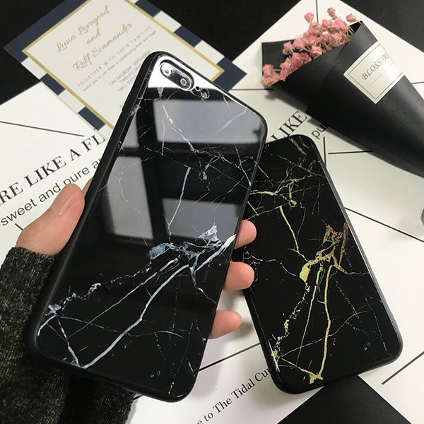 iphone xr phone case black marble