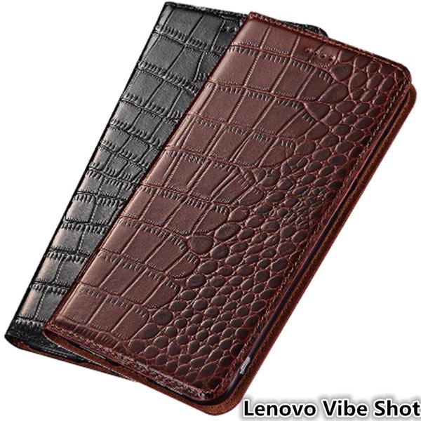 Ultra Slim Phone Case for Lenovo Vibe Shot Genuine Leather Luxury Case For Lenovo Vibe Shot Flip Case With Card Slot
