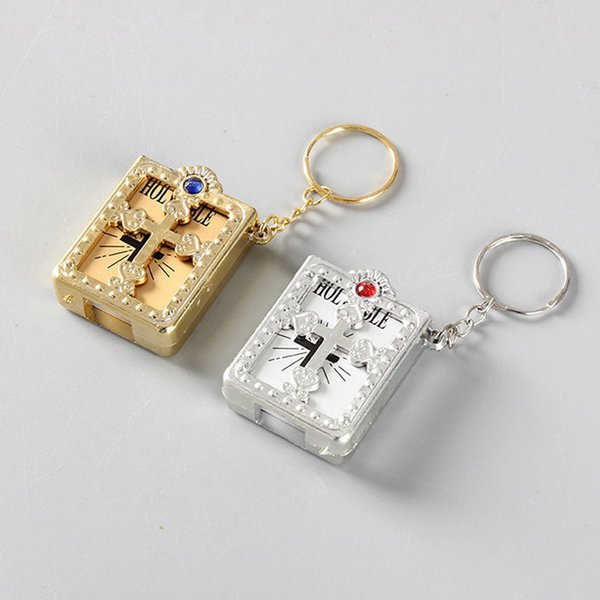 Großhandel Mini Bibel Keychain Kreuz Keychain Echte Bibel Als Geschenk Für Taufe Holy Communion Guests Party Favors Von Yf20150307 076 Auf