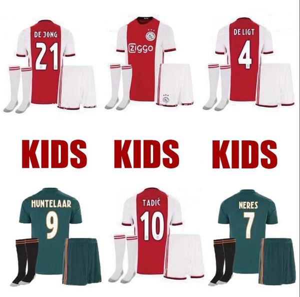 2019 2020 Ajax kids Soccer Jerseys home Shirts 19 20 TADIC ZIYECH DE JONG football Kids Youth women football shirt Uniform