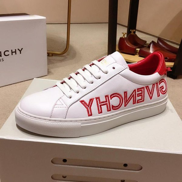 GivenchyFast Delivery Paris Reverse-Sneakers In Leder-Männer '; S Schuhe Gemütlich Luxus weiche Fußbekleidungen Spitze -Bis Low Top-Mann-Schuhe