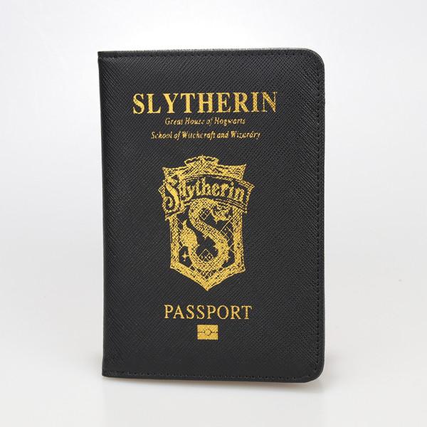 Funda para pasaporte con bloqueo de Rfid multifuncional Funda para pasaporte Gryffindor Ravenclaw de cuero Hogwarts