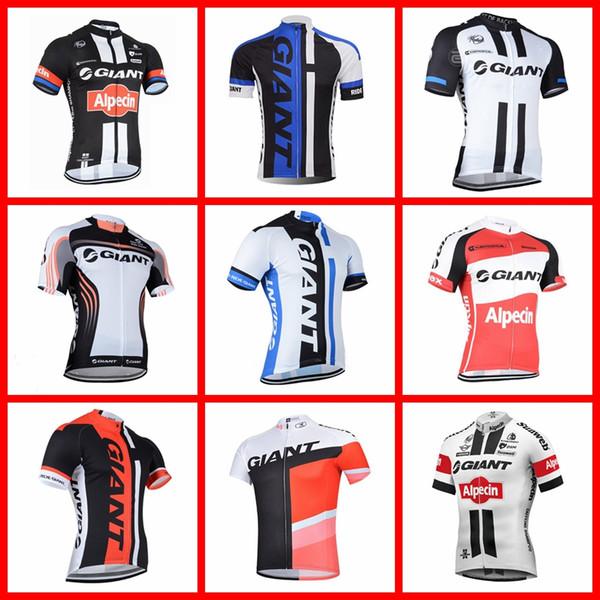 GIGANTE equipe Ciclismo Mangas Curtas jersey estrada Respirável esportes ao ar livre de Verão de Corrida de bicicleta Quick Dry 51517
