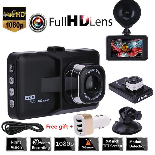 "top popular 3.0"" Vehicle 1080P Car DVR Dashboard 32GB DVR Camera Video Recorder Memory Card Dash Cam G-Sensor GPS Free Shipping 2020"