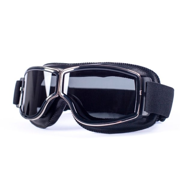 evomosa Universal Motorcycle Vintage Goggles Pilot Aviator Motorbike Scooter Biker Glasses Steampunk Goggles For Harley Helmet