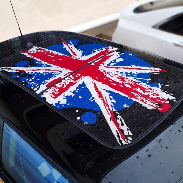 Etiqueta engomada encantadora del techo de la parte superior del coche Union Jack Cartoon Roof Decals para Mini Cooper F56 3 puertas 2014 2015 2016 2017 2018 Estilo exterior