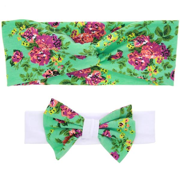 1 conjunto de inverno impresso floresta tropical butterfly atado headwear headband para meninas acessórios para o cabelo festa de natal