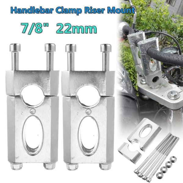 "Handle bar Clamp Riser Mount 110cc 125cc Dirt Pit bike ATV 22mm 7//8/"" Handlebar"