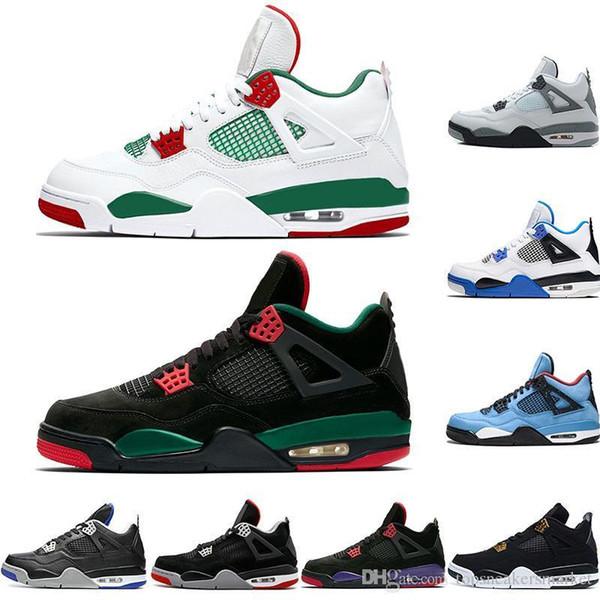 4 4 s Erkekler Basketbol Ayakkabıları Tekler Gün OG 2019 Kaktüs Jack Houston Oilers Için Bred Erkek Tasarımcı Trainer Spor Sneakers Boyutu 41-47