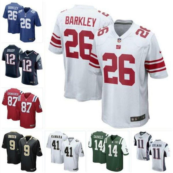 sale retailer 9889c 5893d 2019 Saquon Barkley Giants Jersey Patriots Jets Saints Tom Brady Sam  Darnold Drew Brees Rob Gronkowski Alvin Kamara Football Jerseys Youth Men  From ...