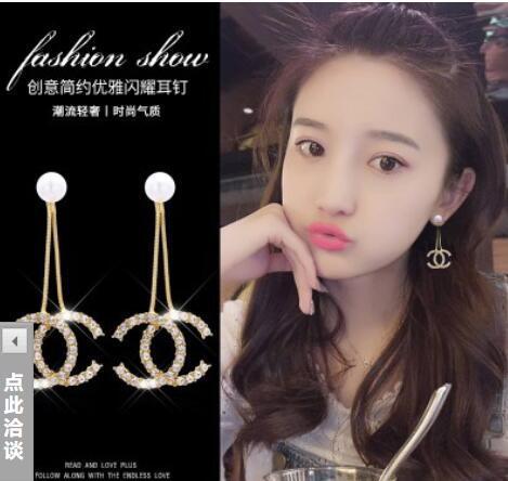 Ashion Frauen Haar Pins Beliebte Luxus Marke Designer Frauen Stud Ohrringe Luxus Kristall Diamant Perle Ohrring Für Frauen Mädchen