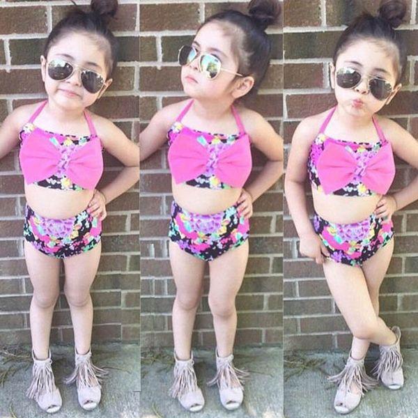 281760a3557 Hot sale floral kids swimwear Girls Swimwear Girls Bikinis Girls Swimsuit  Swim Suits Kids Bathing Suits Two-piece Child Sets Beachwear A5249