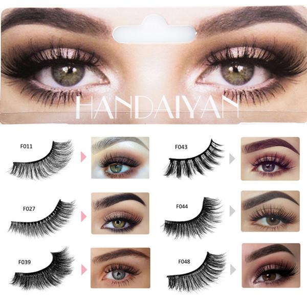 1 Pair/box Eyes Makeup 3D Mink Hair False Eyelashes Curling Mink Thick Eyelashes Full Strip Hand Made Make up Fake Eye Lashes