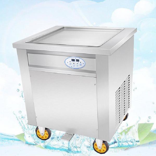 BEIJAMEI 45cm / 50cm / 60cm Carré Faire frire la crème glacée rouleau machine à frire Malaisie frit crème glacée rouleaux fabricant