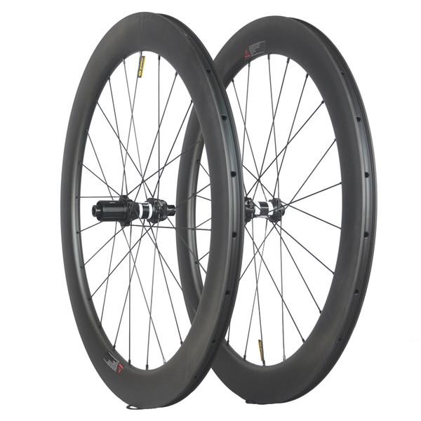 2019 newest 50mm x 25mm clincher light bike wheelset bicycle par 700c rims carbon fiber road racing bicycle wheels carbon wheels DT350s
