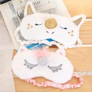 Dormir Unicórnio Máscara 2 Cores Bonito Dos Desenhos Animados Blindfold Eye Shade Máscaras de Festa para a Menina Kid Viajar Acessórios de Cabelo OOA6144