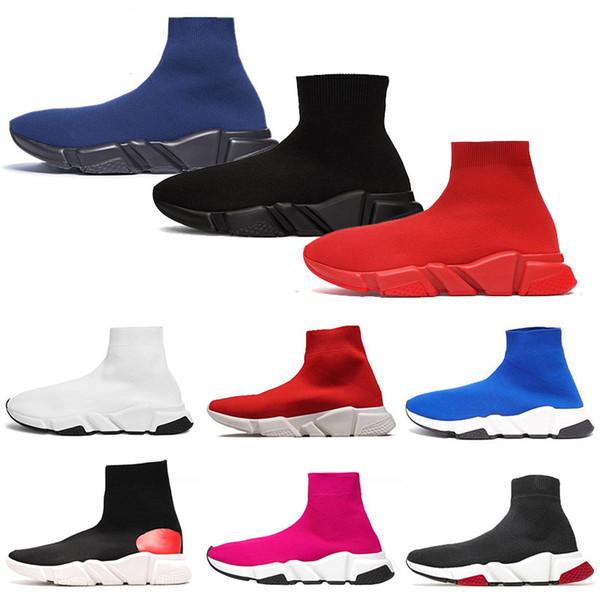 ÇORAP Ayakkabı Eğitmenler Tam Kırmızı Tripler Siyah hız eğitmeni Lacivert glitter moda lüks erkek tasarımcı marka bayan casual ayakkabı koşucular