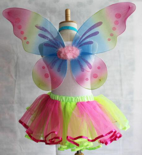 best selling Fashion Rainbow Angel Fairy Wings Girls Baby Toys Toddler Adult Dress Party Kids Costumes (Skirt Not Included)