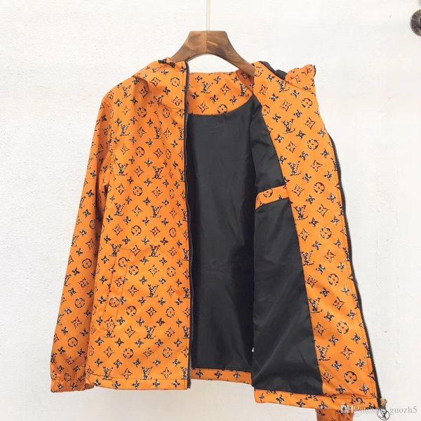 tasarım Ceket Marka WINDBREAKER Uzun Kollu Erkek Lüks ceketler Hoodie Giyim Fermuar Harf Desen Artı boyutu Elbise M-3XL Toptan SHUJ