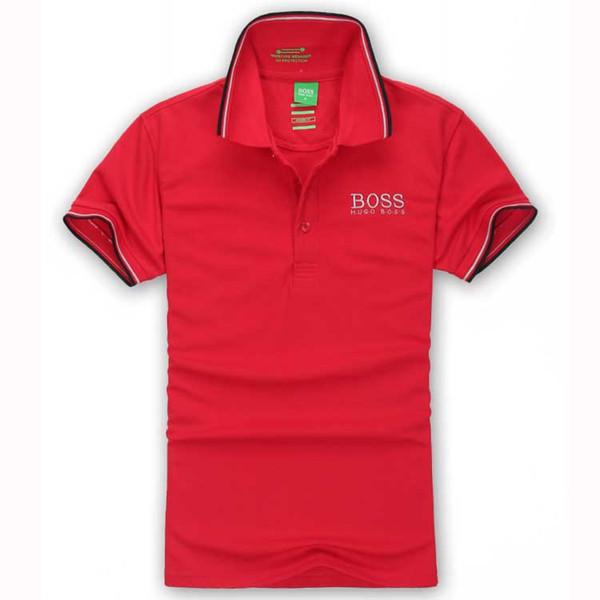 2019 Poloshirt Polo sólido Hombres Polo Camisas de manga corta para hombre Top básico Polos de algodón para niños Marcas Polo Homme FC12