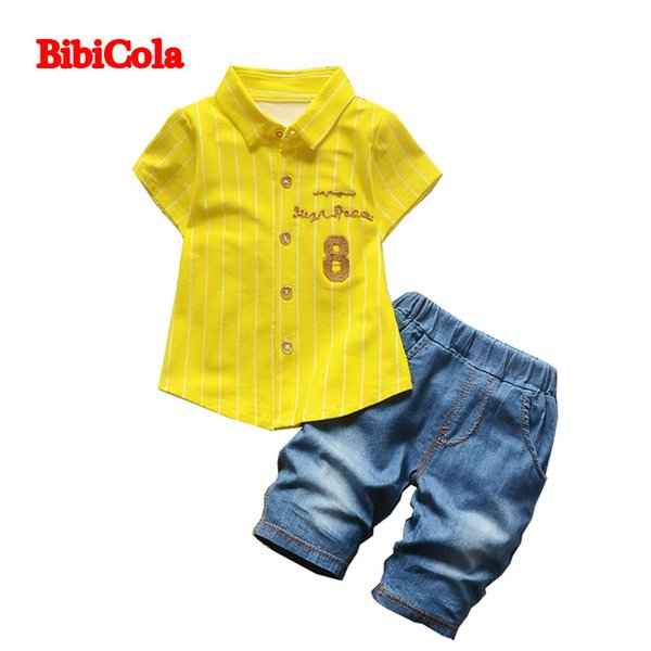 good quality boys clothing sets summer children cotton formal shirts suits fashion gentleman partys outfits boys casual sports sets