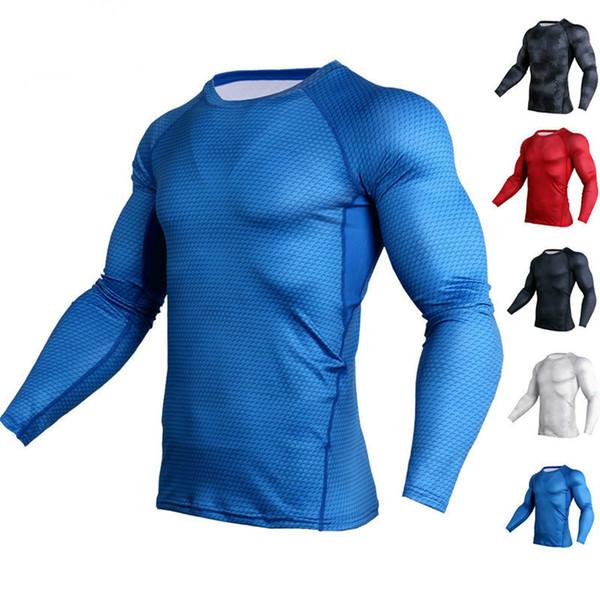 Camisetas Hombre Deportes Running Ejercicio Manga larga Cuello redondo Camisa Secado rápido transpirable Piel de serpiente Patrón Ropa deportiva