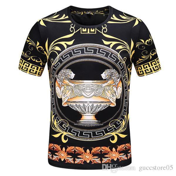 2019 verão novos homens e mulheres T-shirt em torno do pescoço de impressão de manga curta T-shirt frete grátis LOUΙS VUΙTTON