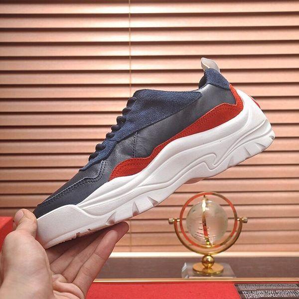 Nefes Erkek Ayakkabı Yeni Geliş Hafif Rahat Chunky Sneakers Dantel-up lüks Casual Artı boyutu Erkek Ayakkabı Gumboy Dana derisi Sneaker
