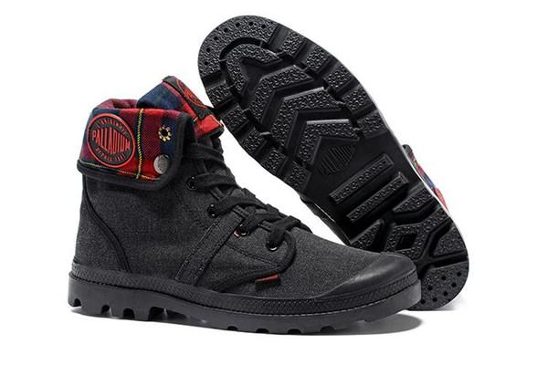 2019 Yeni PALLADIUM Pallabrouse Erkekler Yüksek Ordu Askeri Ayak Bileği erkek kadın çizmeler Tuval Sneakers Rahat Ayakkabı Adam Kaymaz tasarımcı Ayakkabı 35-45