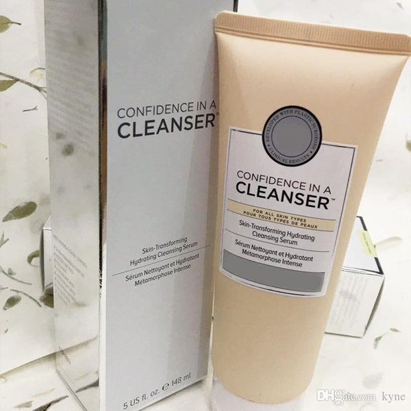 top popular Cosmetics Bye bye Confidence in a cleanser 148ml Skin-Transforming Hydrating Cleansing Serum great skin starts with confidence 2020