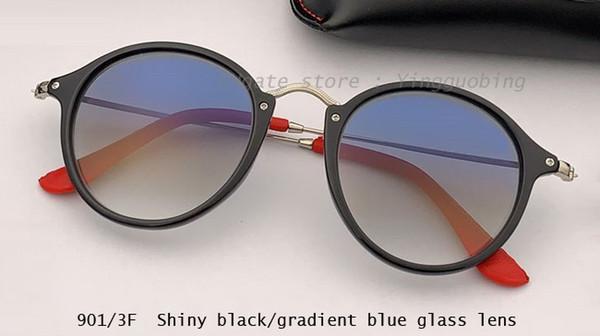shiny black/gradient blue