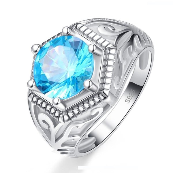USA Seller Heart Ring Sterling Silver 925 Best Deal Jewelry Aquamarine Size 9