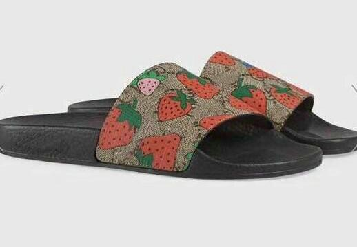 classic special section autumn shoes Designer Rubber Slide Sandal Floral Brocade Men Slipper Gear Bottoms Flip  Flops Women Striped Beach Causal Slippers With Thick Sandals 38 46 Womens  ...