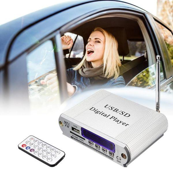 Мини-автомобиль MP3 12V USB SD MMC U диск цифровой плеер FM-радио пульт дистанционного управления цветной светодиодный дисплей стерео 3,5 мм разъем для наушников Mp3