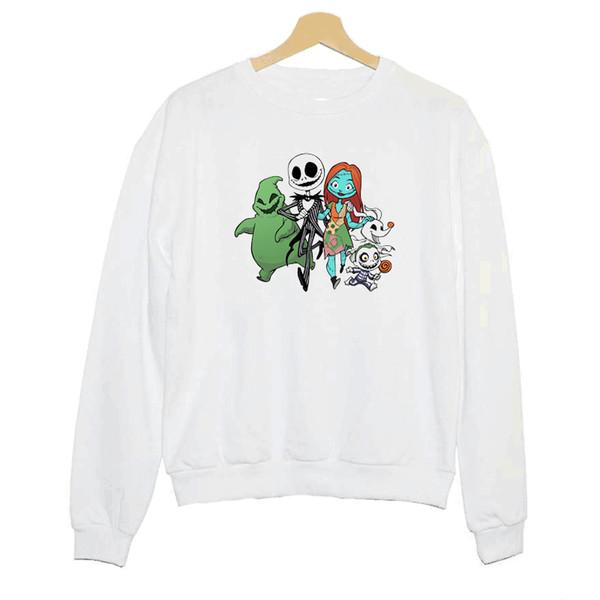 Hillbilly J-352 Sweatshirt Halloween Family Fun Cartoon Image Print Women's Long Sleeve Hoodies Summer New White Undershirt