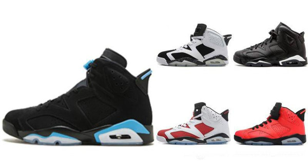6s chaussures de basket-ball 6 Noir Infrarouge 3M réflexion nouvelle arrivée 2019 Version haute Top hommes de la mode de luxe hommes femmes designer sandales chaussures g01