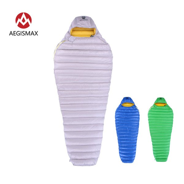 AEGISMAX Outdoor Camp Ultra Dry White Down Sleeping Bag 700FP Mummy Type Sleeping Gear Water Repellent Down
