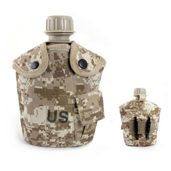 2019 newportable canteen tactical water bottle army cup thermal insulation survival kettle military camping airsoft hunting tool thumbnail