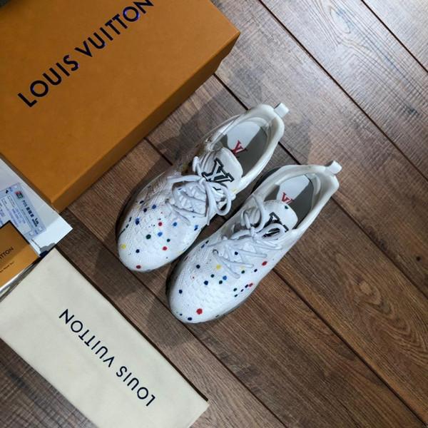 2019 zapatos de diseño de lujo Marca Moda, los mejores zapatos de mujer, zapatos de cuero de corte bajo en oro, planos, zapatillas de deporte casuales